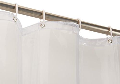 AmazonBasics Heavyweight Clear Curtain Liner Hooks - x 72 inches