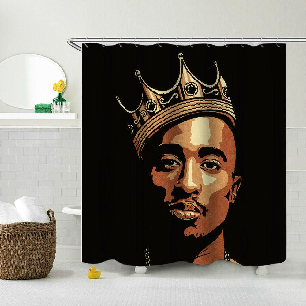 HIP 2Pac Shower Decor Fabric Curtain