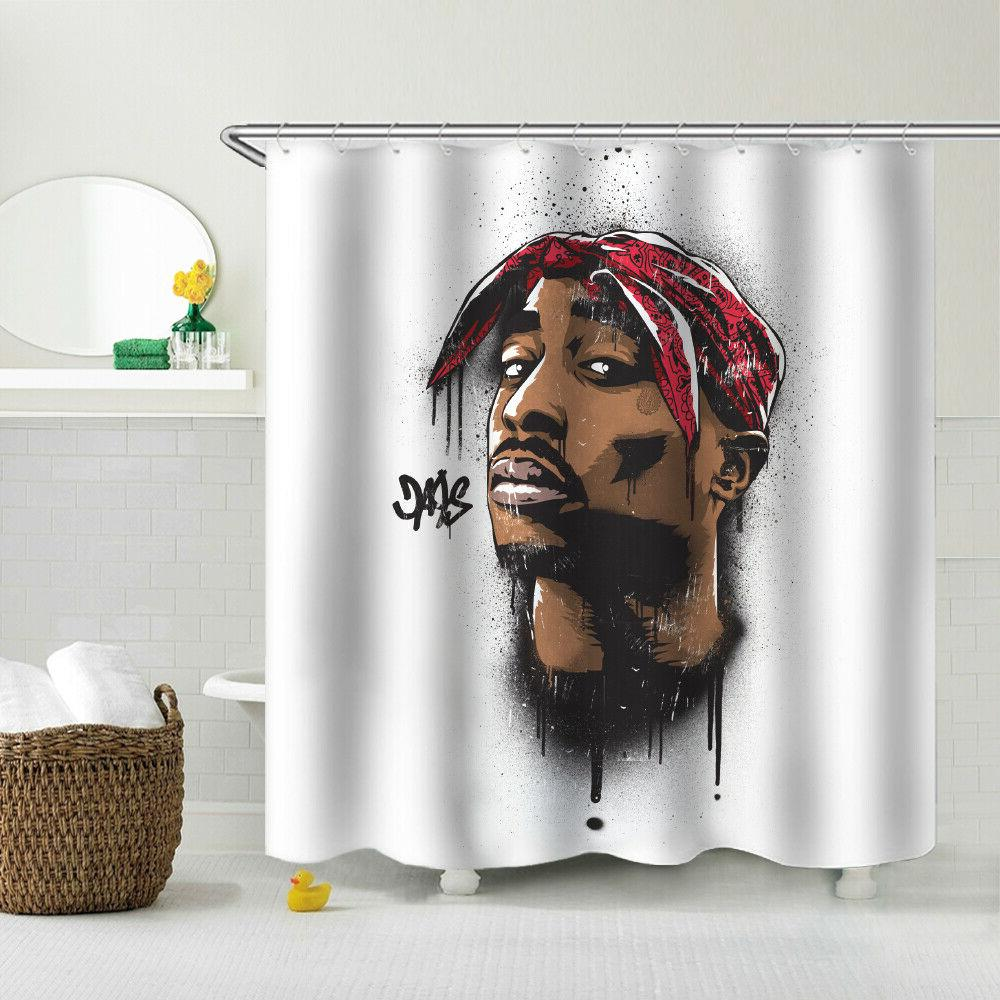 HIP HOP Shower Curtain Dorm/Apartment Decor Fabric Bath
