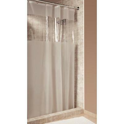 InterDesign Hitchcock Shower Curtain, Stall 54 x 78, Clear