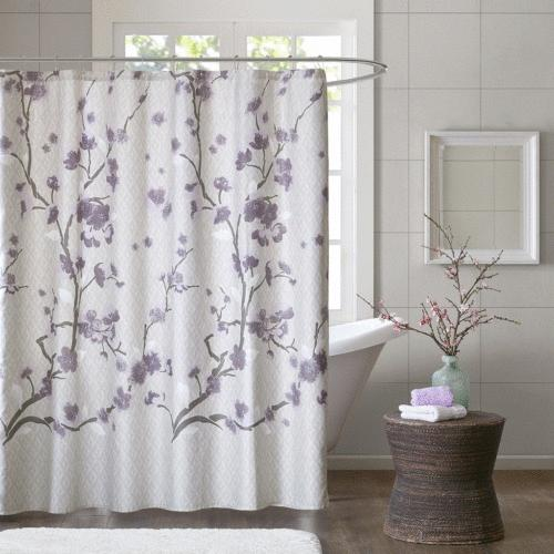 Madison Park Holly Cotton Shower Curtain