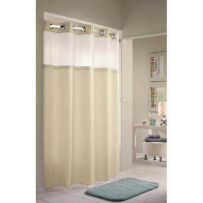 "Hookless Double H Shower Curtain 71 x 77"" Beige Package Of 1"