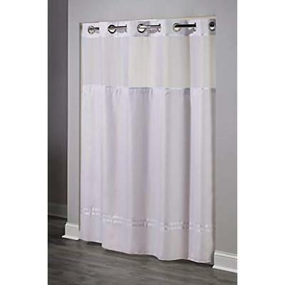 Hookless HBH40MYS0101SL77 Curtain With Snap-In Liner White X