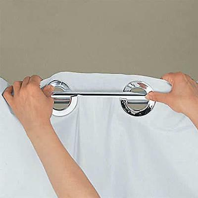 Hookless Escape Curtain With Snap-In White