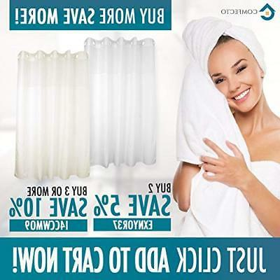 Hookless Polyester by COMFECTO, 70x74 Inch Hotel Bathroom with