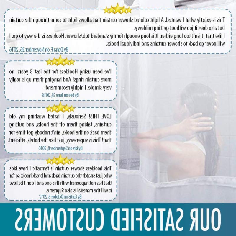 Hookless Shower COMFECTO Waterproof Inch