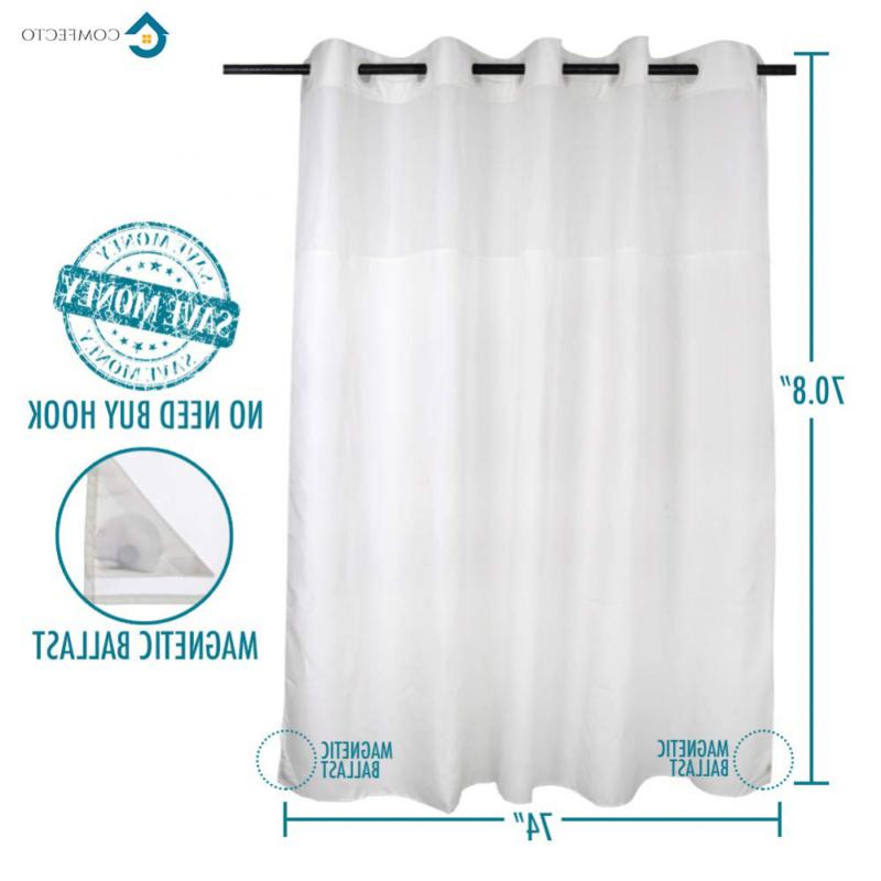 Hookless Curtain COMFECTO Inch Hotel Bathro