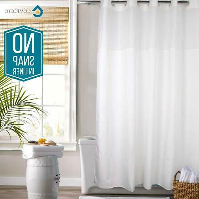 hookless shower curtain by no snap in