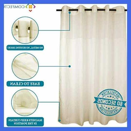 "Hookless Curtain NO SNAP 77X70"""