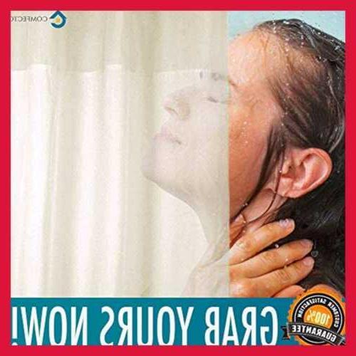 "Hookless Curtain NO SNAP 77X70"" Mold Hotel"