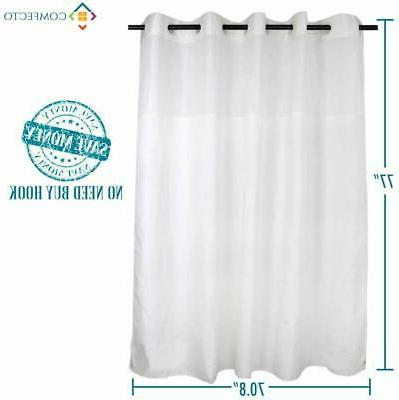 COMFECTO Hookless Curtain with Light-Filtering Mesh and Magnets,