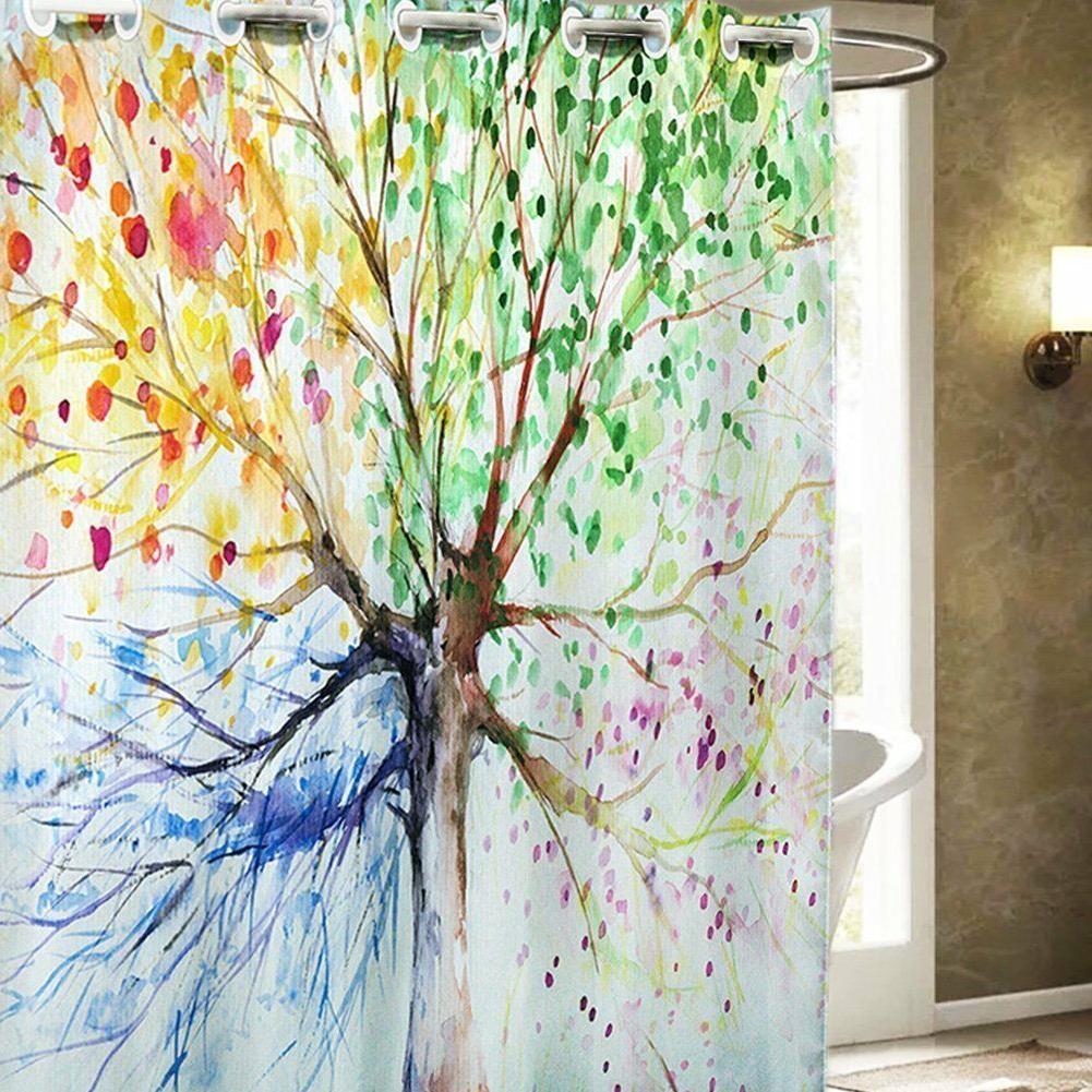 Hookless Shower Curtains, ZSZT Waterproof Mildew-Resistant 1