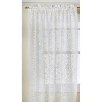 LORRAINE HOME FASHIONS Hopewell Lace Window Curtain Panel, 5