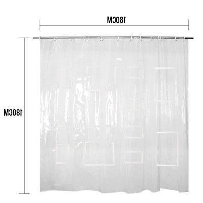 HOT Tablet EVA Clear Shower Curtain Liner Pockets