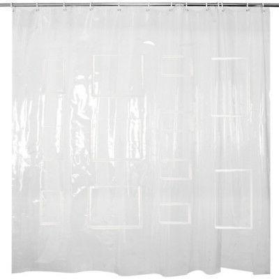 HOT EVA Clear Curtain Liner Pockets