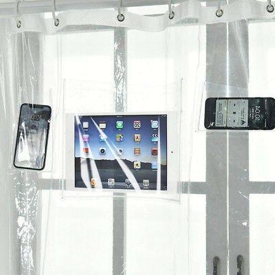 HOT Cellphone Tablet EVA Curtain Liner Pockets Touchscreen