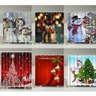 Hot Christmas Home Shower Curtain Waterproof Bathroom Xmas P