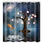 Hot US Modern Ocean Print Shower Curtain Waterproof Bathroom