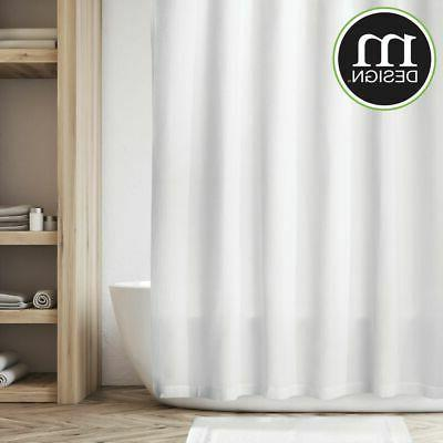 mDesign Cotton Waffle Weave Curtain,