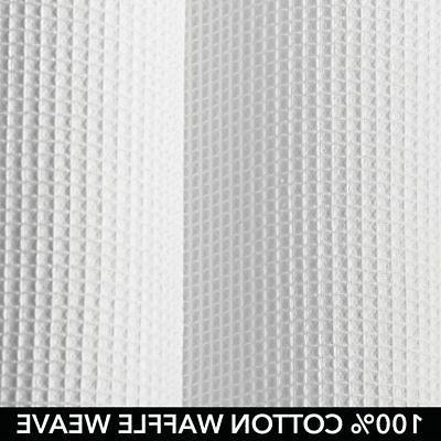 mDesign SIZE Waffle Fabric Curtain,