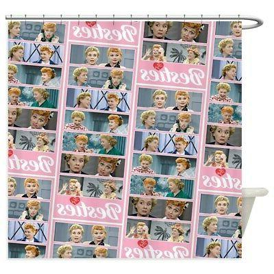 CafePress I Love Lucy: Besties Pattern Shower Curtain