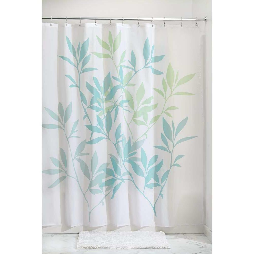 ikat chevron fabric shower curtain
