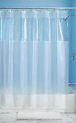 "InterDesign Hitchcock EVA Shower Curtain, Long 72"" x 84"", Cl"