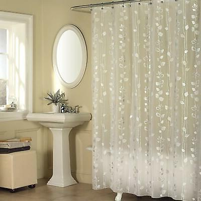 ivy shower curtain silver