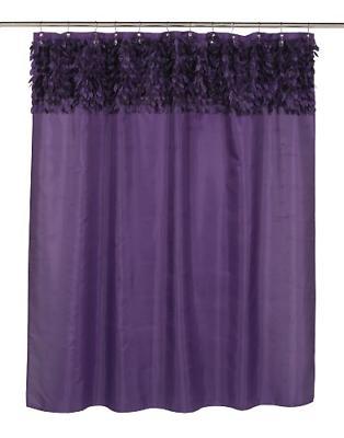 jasmine fabric shower curtain purple