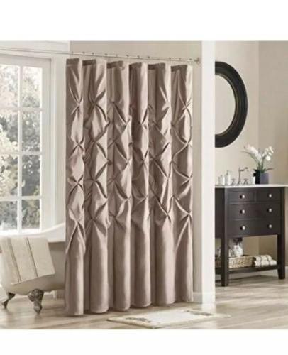 laurel fabric polyoni shower curtain mushroom 54