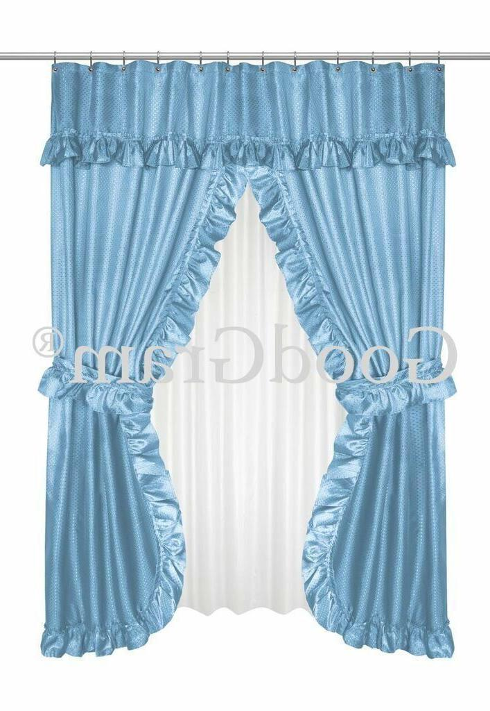 Lauren Dobby Swag Curtain Sets -