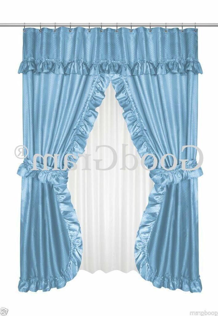 Lauren Dobby Swag Curtain Sets -