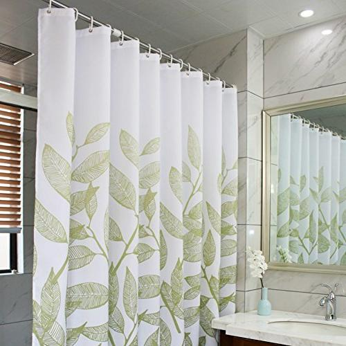 MangGou Leaves Shower Curtain,Waterproof Polyester Bathroom Shower Curtain with x