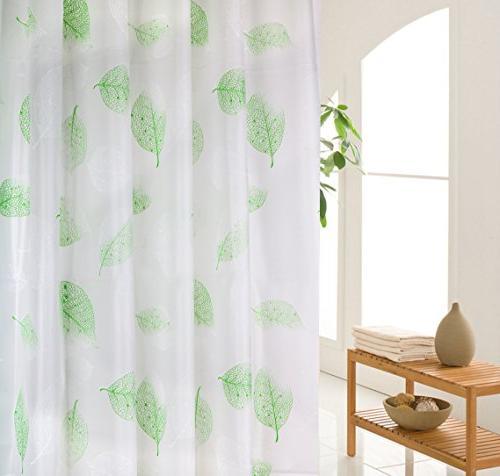 leaves plastic peva shower curtain