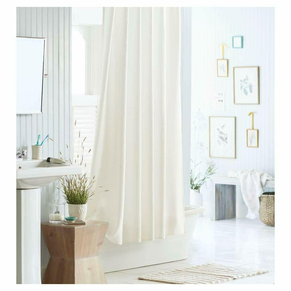 72 inch Stall Shower Curtain Fabric Water Repellent Washable