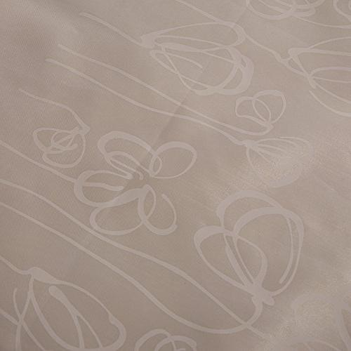 White Flowers Proof Fabric