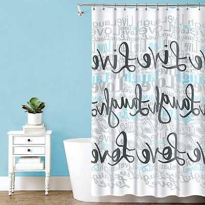 LOVE' Polyester Curtain, White