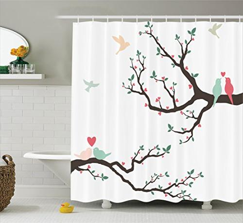 love decor shower curtain set