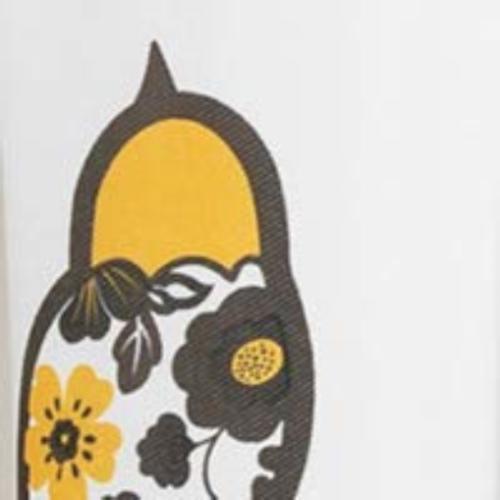 Lush Curtain-Floral Bird Design