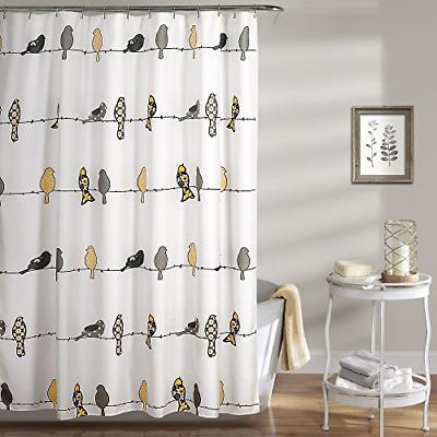 lush decor rowley shower curtain floral animal