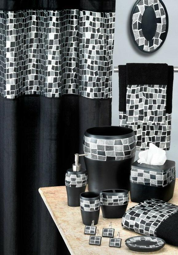 Luxury 19pc Bathroom Set Shower Curtain