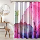 Luxury Fabric / Cloth shower Curtain, Skeleton Leaf Veins,Wh