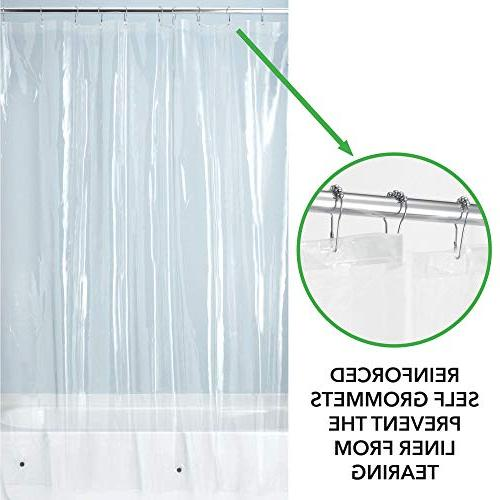 "mDesign - Heavy Curtain Liner No Odor, Chlorine Free - 72"" x 72"""