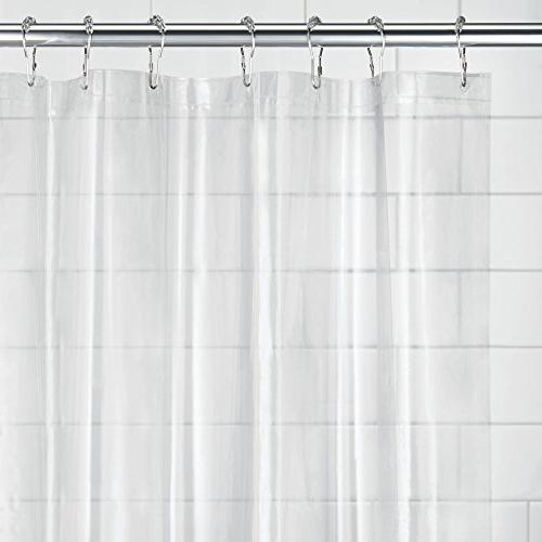 mDesign - 2 - Mold/Mildew Resistant, Heavy PEVA Curtain Liner for Showers No Odor, - 3 Gauge, x 72""