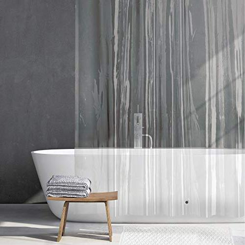 "mDesign 2 - Waterproof, Heavy PEVA Curtain for Bathroom Showers and No Odor, Chlorine - 3 72"" x 72"""
