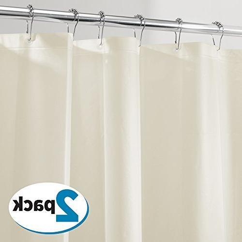 72x72 NEW InterDesign Mold//Mildew Resistant PEVA 3 Gauge Shower Curtain Liner