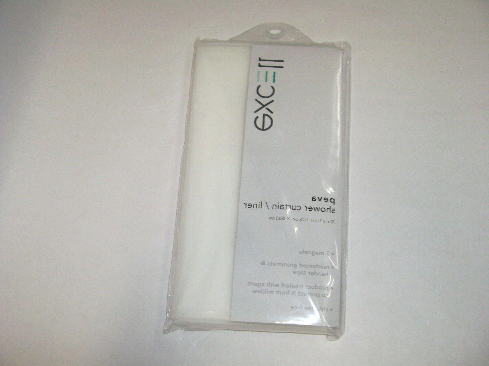 EX-CELL Magnetic Shower Curtain Liner, Clear