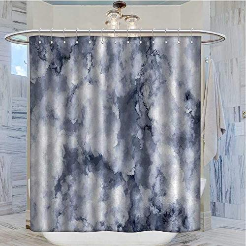 Marble Shower Curtains Resistant Artistic Marble Pattern Effects Display Satin Fabric Dust