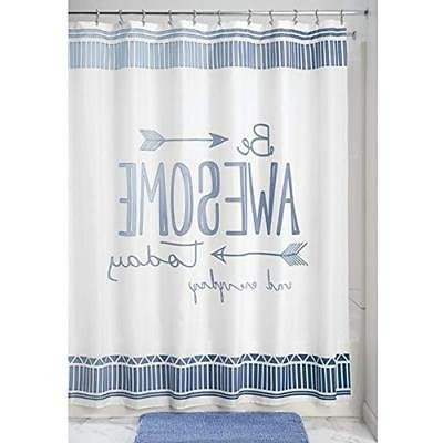 mdesign awesome fabric shower curtain