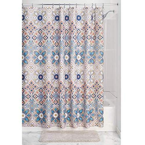 mDesign Decorative Easy Care for Bathroom and - Tan/Shades Blue